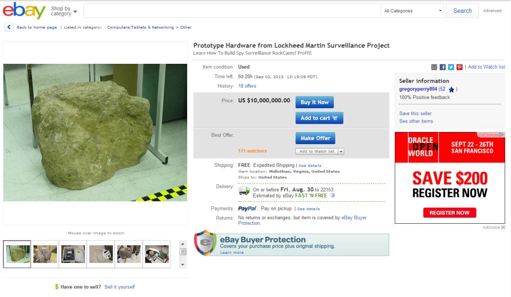 eBay spy rock
